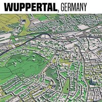 city wuppertal 3D model
