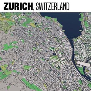 3D city zurich