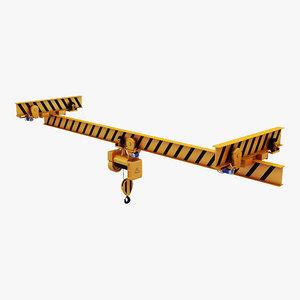 overhead crane hoist 2 3D model