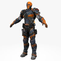 3D sci-fi soldier armored colour
