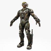 sci-fi soldier type model