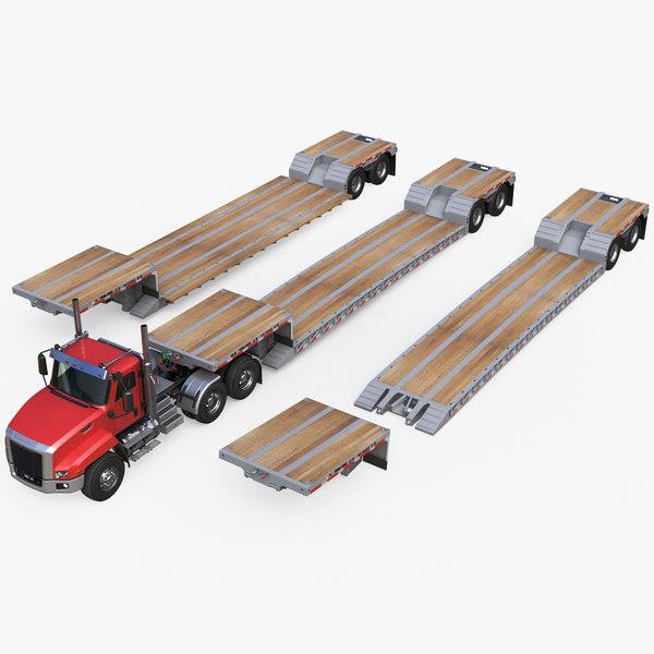 generic truck semi loader 3D model