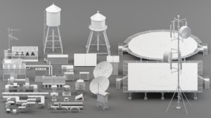 parts rooftop helipad 3D model