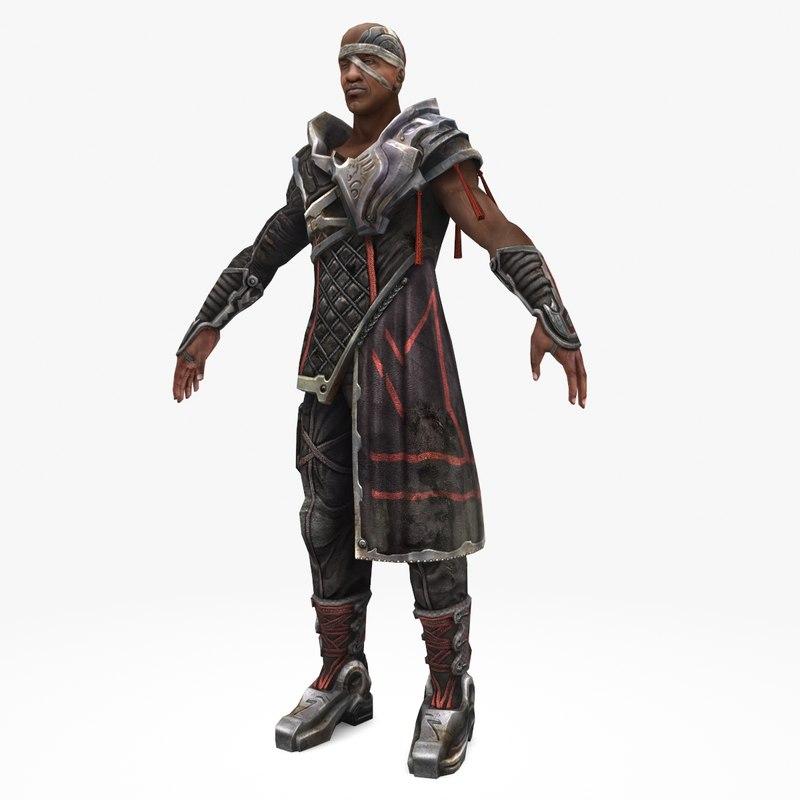 3D sci-fi warrior sci fi
