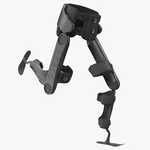 3D model rehabilitation exoskeleton indego running