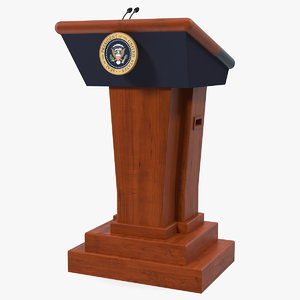 speech stand united states 3D model