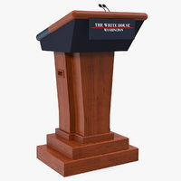3D model speech stand white house