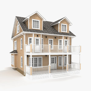 3D two-story cottage 68