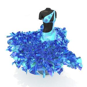 3D dress crystal model
