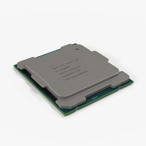 intel core i9-9980xe cpu 3D model