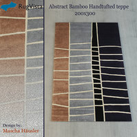 3D abstract bamboo handtufted teppe