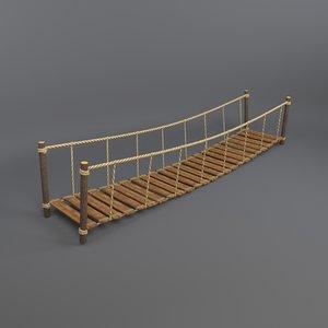 3D digital rope bridge