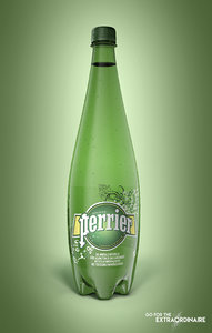 3D bottle perrier 1l model