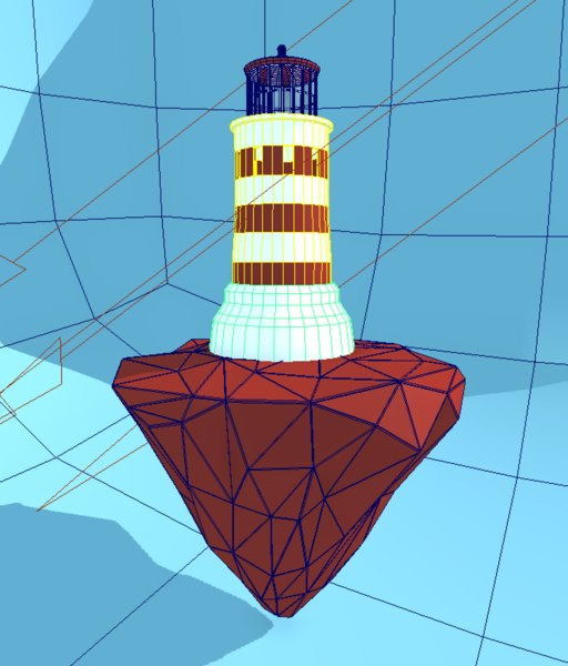 3D lighthouse building tower