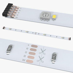 3D 3m 20cm flexible led model