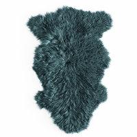 wool bedside sheepskin rug model