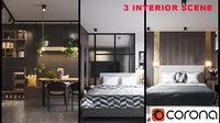 interior Kitchen +2 Bedroom - 3+scene Corona