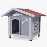 wooden dog house 3D model