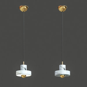 3D lampatron marble pendant light