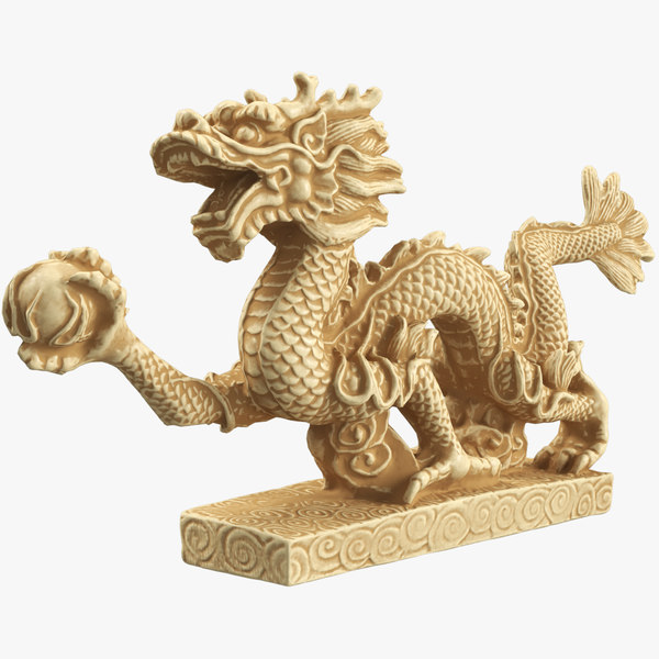 statuette indian bone dragon 3D model
