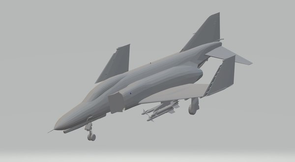 f4e phantom ii wheels 3D model