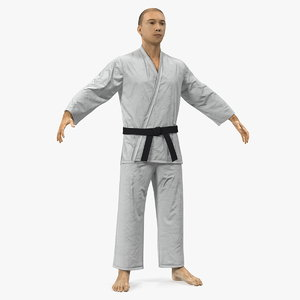 japanese karate fighter fur model