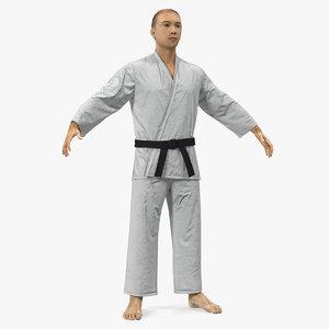 japanese karate fighter fur model