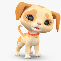 cute cartoon dog puppy 3D