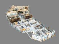 building construction roof scan 3D
