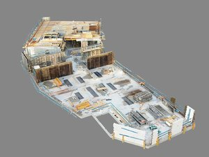 building construction roof scan 3D