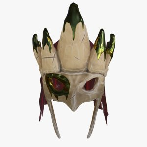 stylized helm 3D model