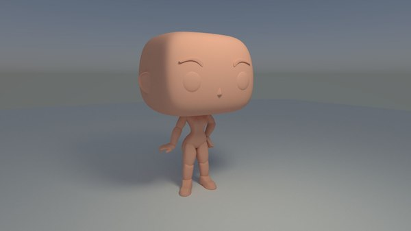 3D model custom pop female standing
