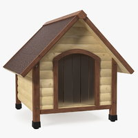 3D light wood pet house