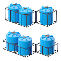 Iron crate for water barrels