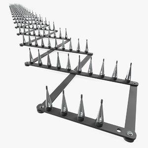 spike strip 3D model