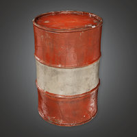Military Container Drum Barrel - MLT - PBR Game Ready