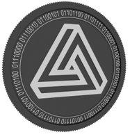 3D maximine black coin model
