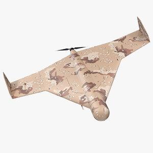 3D kamikaze drone desert camouflage