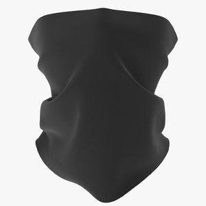 mask shawl scarf 3D model