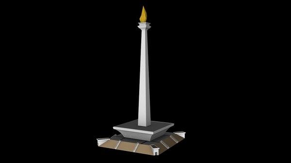 monas jakarta 3D model