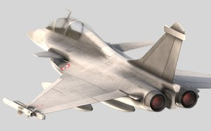 rafale fighter 3D