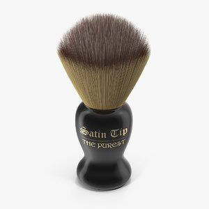 shaving brush badger dark 3D model