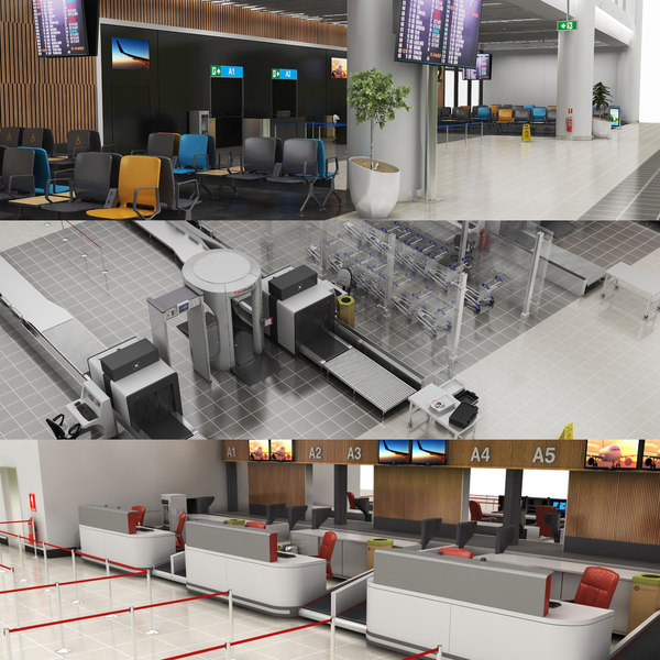 airport security door 3D