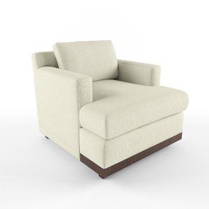 3D marietta lounge chair mcguire model