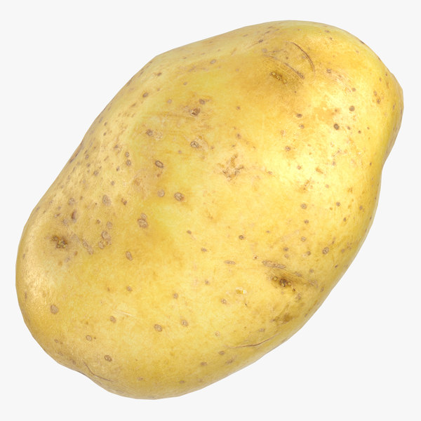 3D potato clean ready 02 model