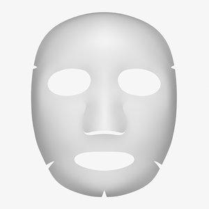 3D cosmetic mask model