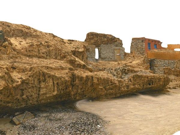 3D model beach african slums scan