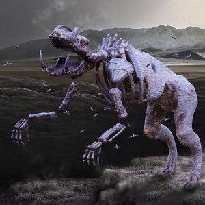 3D boar monster creature model