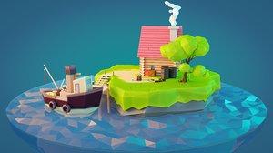 fisher island 3d max