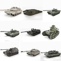 3D battle challenger mbt tank model